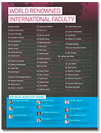 Dr De Silva listed as a member of the World Renowned International Faculty