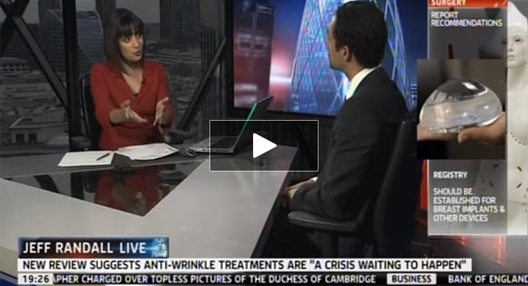 Watch Video: Sky News interviews Dr. Julian De Silva about Patient Safety in Cosmetic Surgery