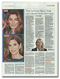 Dr. De Silva was quoted as an expect in the Daily Mail Newspaper - cover