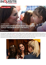 Inquisitr - Kate Middleton's Nose Most Requested 'Style' For Rhinoplasty Patients