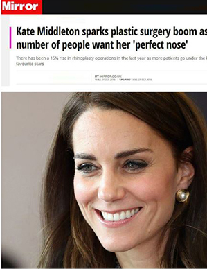 Mirror Kate Middleton sparks plastic surgery boom as number of people want her -perfect nose-