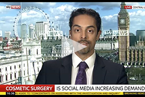 Watch Video: Sky News interviews Dr. Julian De Silva about Cosmetic Surgery, Social Media and Patient Safety