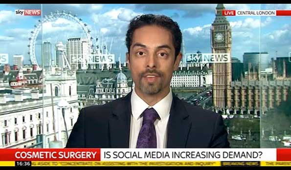 Sky News interviews Dr. Julian De Silva about Cosmetic Surgery, Social Media & Patient Safety