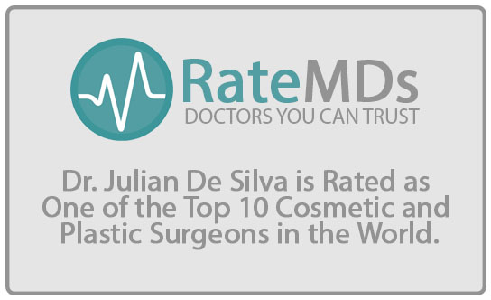 RateMds Doctors you can trust Dr. Julian De Silva is Rated as One of the Top 10 Cosmetic and Plastic Surgeons in the World
