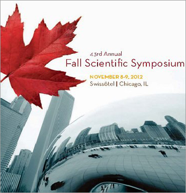 43rd Annual Fall Scientific Symposium Nov.8-9,2012
