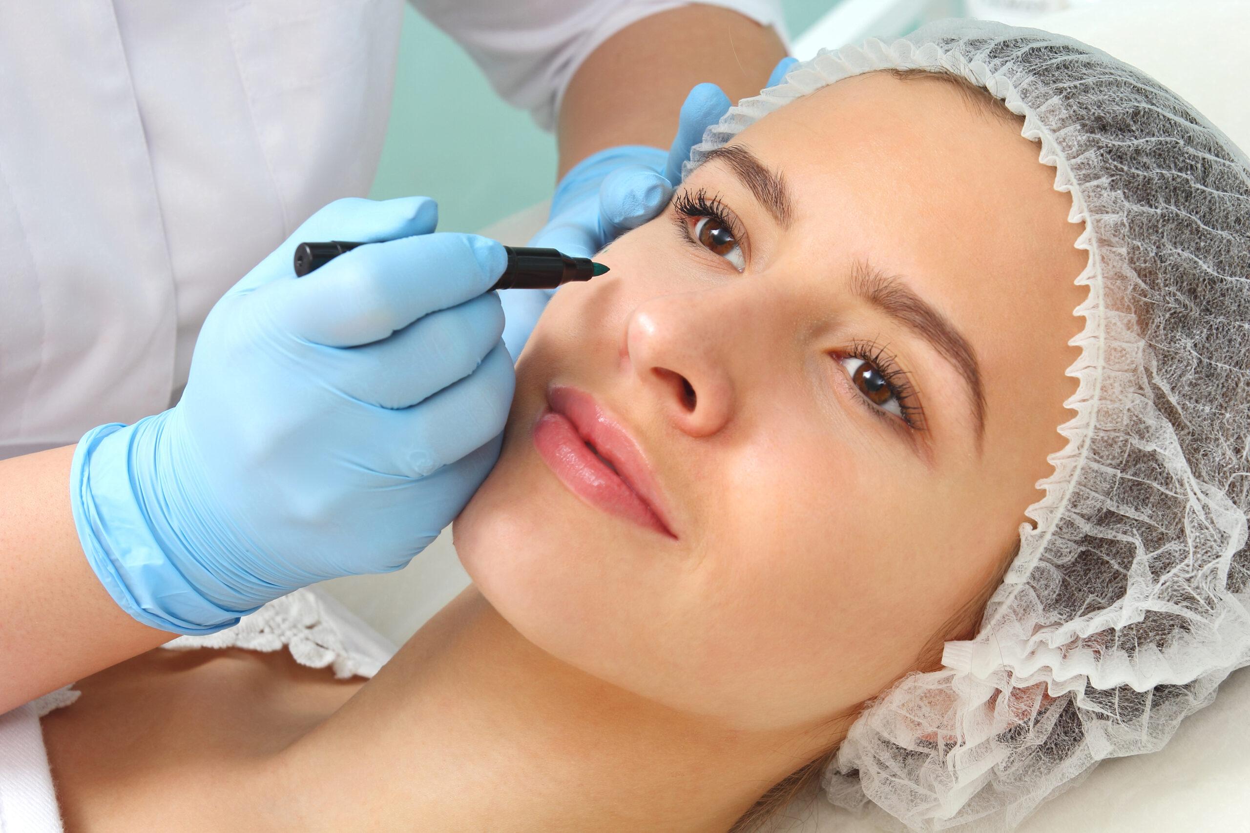 non-surgical alternative to blepharoplasty, female model
