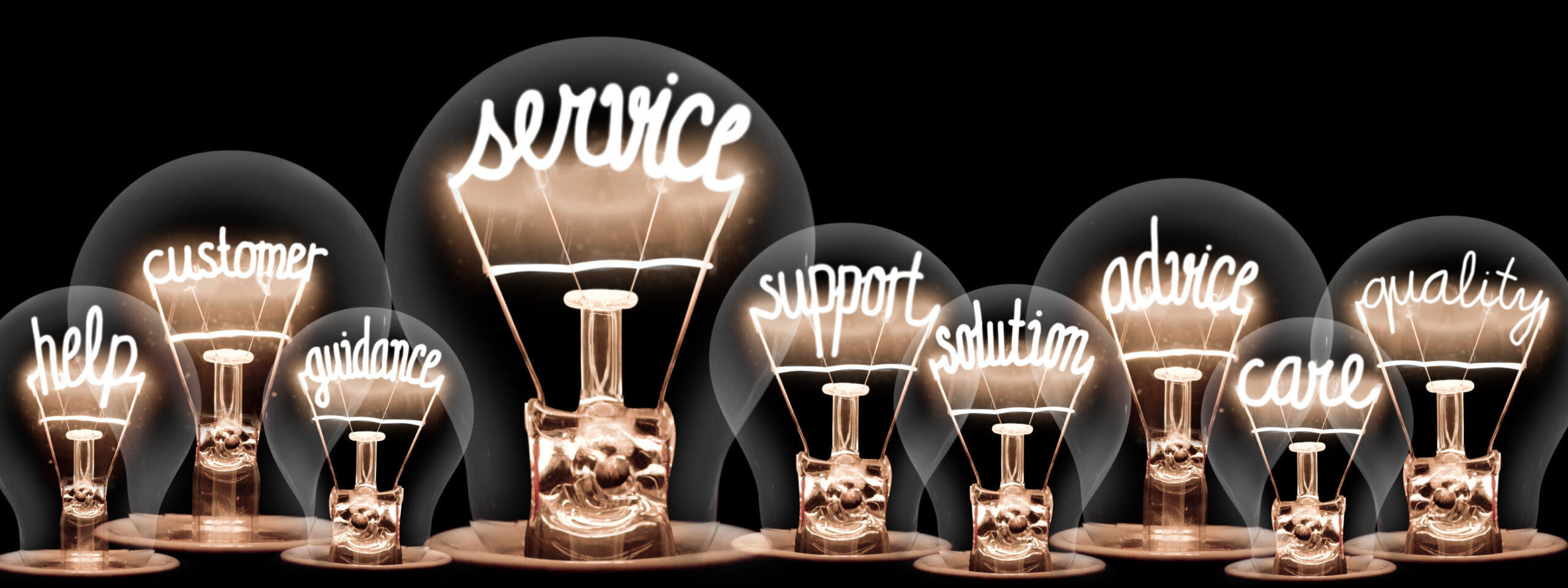 Help. Customer. Guidance. Service. Support. Solution. Advice. Care. Quality