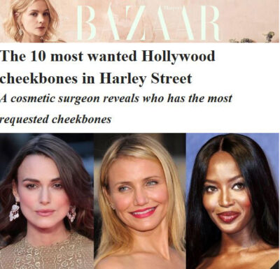 Bazar: The 10 most wanted Hollywood Cheekbones in Harley Street