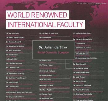 World Renowned International Faculty - Dr. Julian de Silva