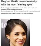 AOL: Meghan Markle named celebrity with the most 'alluring eyes'