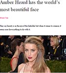 YAHOO: Amber Heard has the world's most beautiful face, according to Phi research by Dr Julian De Silva