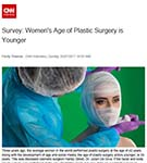 CNN: Average age at which women undergo cosmetic surgery goes under 40 for the first time, according to research by Dr Julian De Silva.