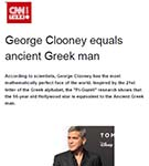 CNN: George Clooney is the world's most beautiful man, according to facial mapping research by Dr Julian De Silva.