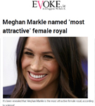 Evoke: Dr. De Silva featured in the article 'Meghan Markle named 'most attractive' female royal'