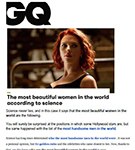 GQ: New study by Dr. Julian De Silva uses science to demonstrate who the most beautiful women in the world are.