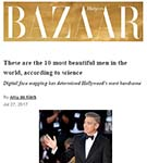 HARPER'S BAZAAR: Digital facial mapping by Dr Julian De Silva has determined Hollywood's most handsome men.