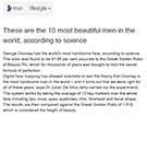 MSN: These are the 10 most beautiful men in the world, according to scientific research by Dr Julian De Silva.