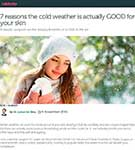 NETDOCTOR: Dr. De Silva discusses the beauty benefits of a chill in the air.