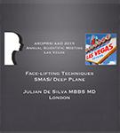 Publications: Dr. De Silva teaching facelift surgery in Las Vegas, USA, Surgical techniques SMAS lifting versus Deep Plane Lifting