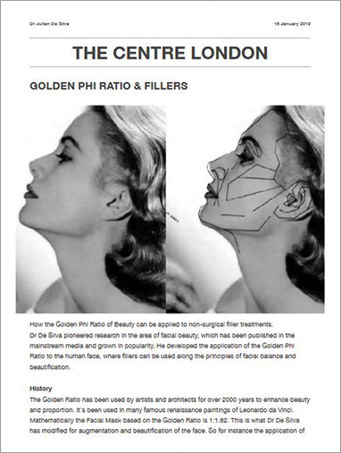 The Centre London: Golden Phi Ratio and Fillers