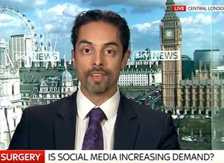 Watch Video: Sky News interviews Dr. Julian De Silva about Cosmetic Surgery, Social Media & Patient Safety