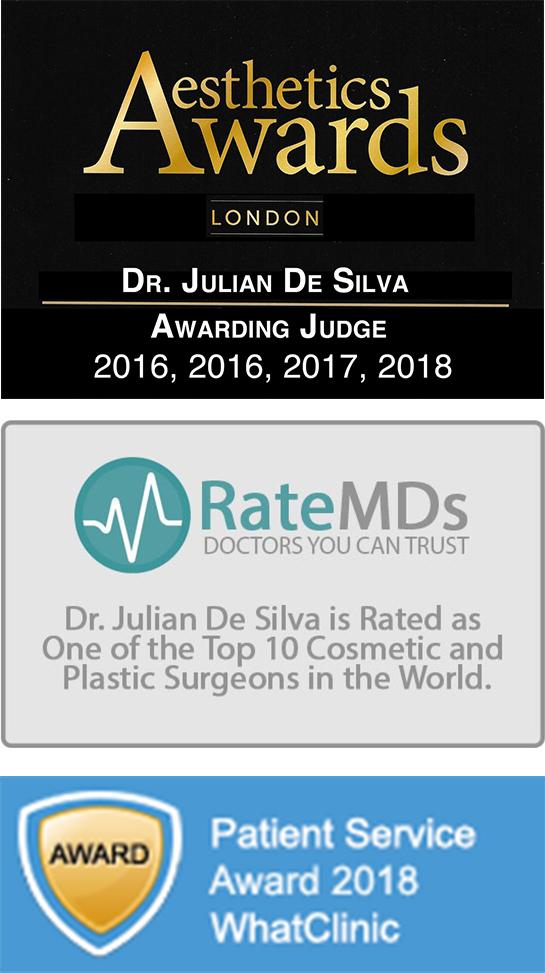 Aesthetics Awards London, Dr. Julian De Silva, Awarding Judge 2016-2018